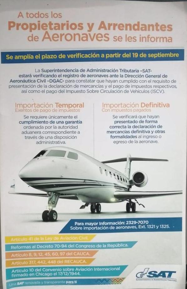 impuestos de aviones
